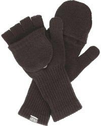 Converse - Fingerless Knit Gloves - Lyst
