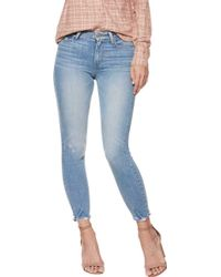 PAIGE - Hoxton Torn Hem Cropped Jean In Atterbury - Lyst