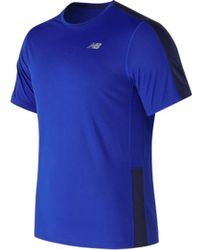 New Balance - Mt73061 Accelerate Short Sleeve Tee - Lyst