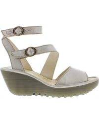Fly London - Yisk837fly Ankle Strap Wedge Sandal - Lyst