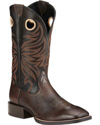 Ariat - Sport Rider Wide Square Toe Cowboy Boot - Lyst