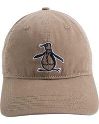 Lyst - Original Penguin Big Pete Baseball Cap in Blue for Men 54497248dfb8