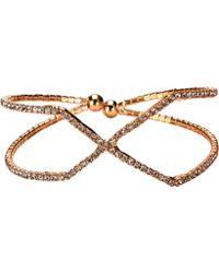 San Diego Hat Company - Criss Cross Rhinestone Bracelet Cuff Bsj3506 - Lyst