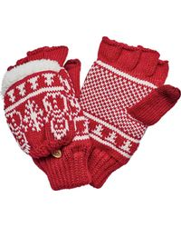 San Diego Hat Company | Snowman Pattern Pop Over Fingerless Glove Kng3476 | Lyst