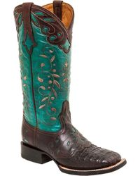 Lucchese Bootmaker - Sherilyn W Toe Cowgirl Boot - Lyst