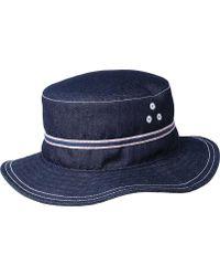 be64ceeb805 Lyst - Kangol Denim Stitch Bucket Hat in Blue for Men - Save 17%