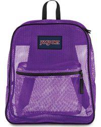 Lyst - Jansport Mesh Backpack in Blue