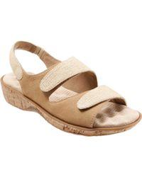 1d2754851e7 Lyst - Born Nea Nubuck Gladiator Sandal in Gray