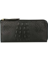 Scully - Embossed Croco Wallet 5009 - Lyst