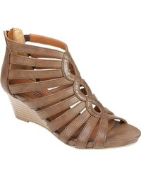 White Mountain Footwear - Victoria Gladiator Wedge Sandal - Lyst