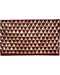 San Diego Hat Company - Gold Pyramids On Red Velvet Clutch Bsb3550 - Lyst