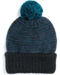 3f185505fc44a Lyst - Muk Luks Pom Cuff Cap in Blue for Men