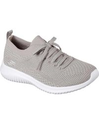 65e53d5494f2 Lyst - Skechers Women s Ultra Flex Statements Sneaker in Gray
