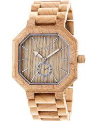 Earth Wood - Acadia Bracelet Watch - Lyst