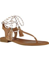 d0314de3af18 Lyst - Nine West Venga Thong Sandals in Yellow