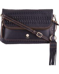 Lodis - Rodeo Woven Rfid Aphra Zip Flap Crossbody - Lyst