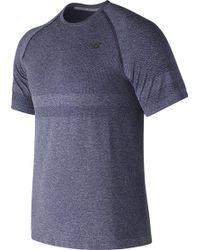New Balance - Mt73913 Short Sleeve Seamless Tee - Lyst