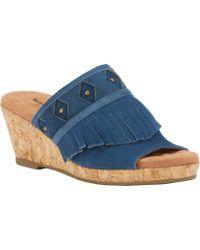 Walking Cradles - Aniston Cork Wedge Sandal - Lyst