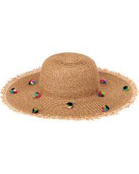 acc957bbbc5 San Diego Hat Company - Multi Color Pom Sun Brim Sun Hat Ubl6809 - Lyst