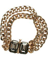 San Diego Hat Company - Chunky Gold Chain Bracelet Bsj3519 - Lyst