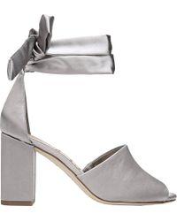Odele Denim Metallic Block Heel Sandals QI7u3SA7V