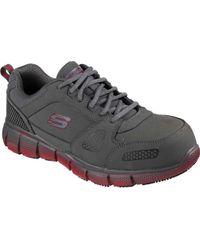 Skechers Work Telfin Saket ESD Alloy Toe Shoe(Men's) -Black/Orange Cheap Sale Excellent Nicekicks Online gTtapZrvCk