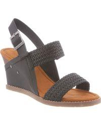 BEARPAW - Racquel Slingback Wedge Sandal - Lyst