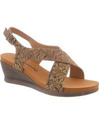 BEARPAW - Opal Slingback Wedge Sandal - Lyst