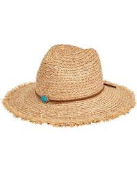 San Diego Hat Company - Raffia Braid Fedora With Stone Trim Rhf6125 - Lyst