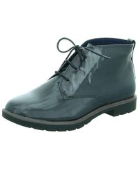 Tamaris Wo Lace-up Boots Blue 2526129855