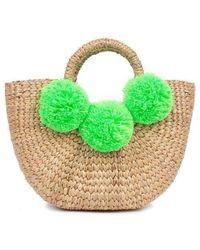 Jade Tribe - Mini Basket Lime - Lyst