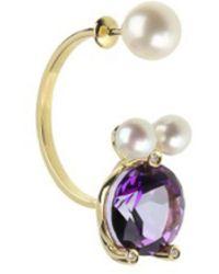 Delfina Delettrez - Gold Magic Puppy Piercing Earrings - Lyst