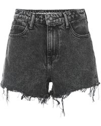 T By Alexander Wang - Distressed Shorts - Lyst
