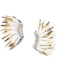 Mignonne Gavigan - Mini Madeline Earrings In White/gold - Lyst