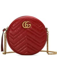 ef81767e259 Lyst - Gucci Gg Marmont Mini Quilted-leather Cross-body Bag in White