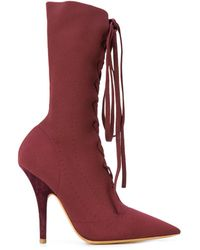 Yeezy - Lace-up Knit Sock Boot - Lyst
