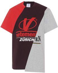 Vetements - Zurich Patchwork Tee - Lyst
