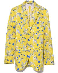 R13 - Yellow Print Summer Blazer - Lyst