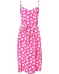 Harley Viera-Newton - Pink Lily Poppy Slip Dress - Lyst