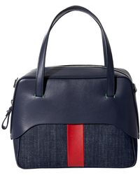 Tibi - Navy/red Mignon Bag With Removable Strap By Myriam Schaefer - Lyst