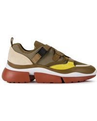 Chloé - Sonnie Leather Velcro Strap Sneakers - Lyst