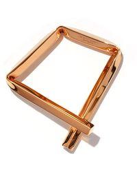 Proenza Schouler - Rose Gold Small Square Bracelet - Lyst