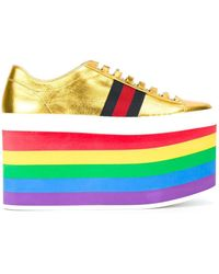 Gucci - Multicolor Low-top Platform Sneakers - Lyst