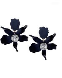 Lele Sadoughi - Jet Black Crystal 'lily' Earrings - Lyst