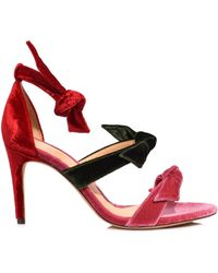 Alexandre Birman - Dusty Rose/rifle Green/flame Red Lolita Sandal - Lyst