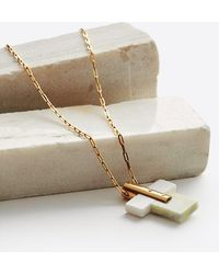 Marion Vidal - Gold Plated Marcelly Marble Necklace - Lyst