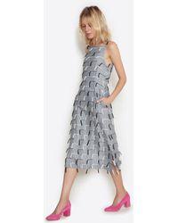 Nikki Chasin - Tisa Fringe Tank Dress - Lyst