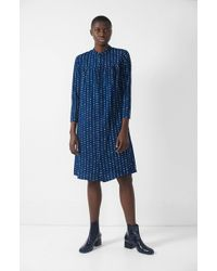 Blue Blue Japan - Balloon Flower Shirt Dress - Lyst