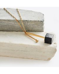 Marion Vidal - Gold Plated Marble Galise Necklace - Lyst