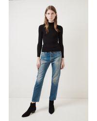 Une Heures - Long Sleeve Mockneck Sweater - Lyst